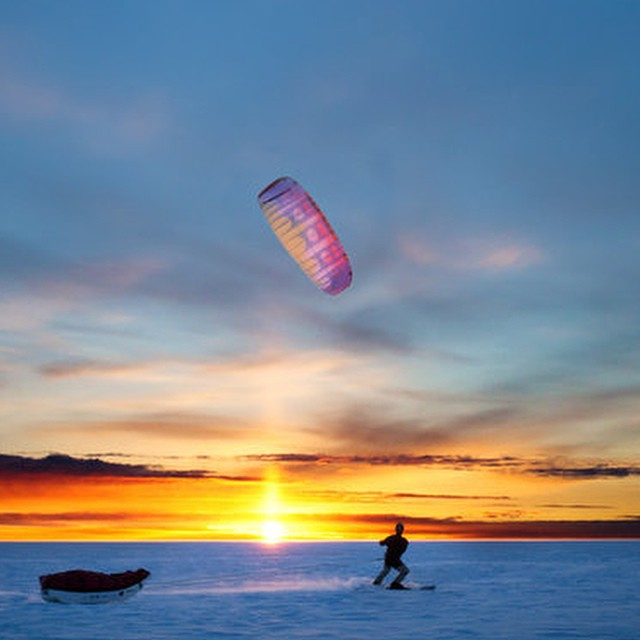 Cold wind power. Greenland by kite. #adventure @polar_circles