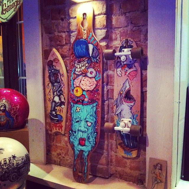 #dervish turned into art in Warsaw Kustom Culture exhibit #kustomart #kustomkulture #skateart