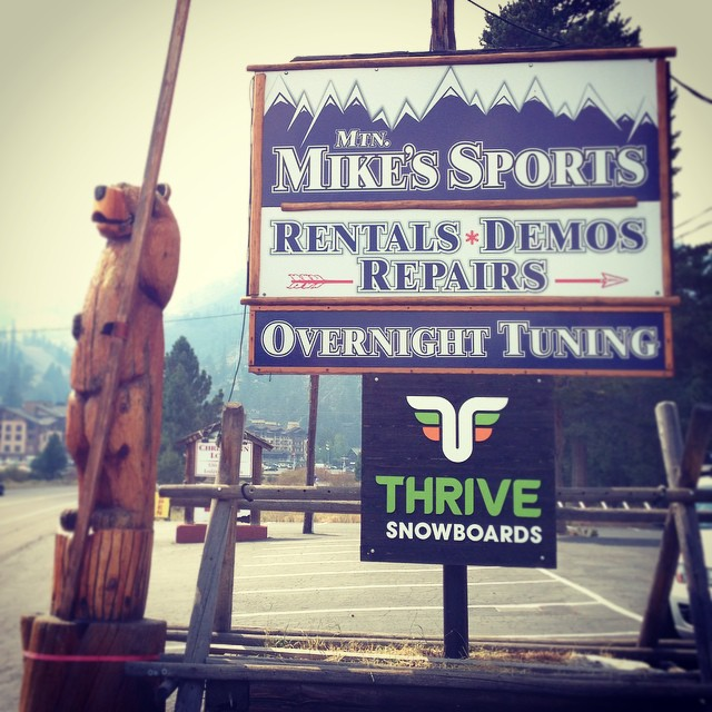 New Thrive Board Shop @squawvalley #tahoe Partnering with Mtn Mike's Sports #snowboard #boardshop