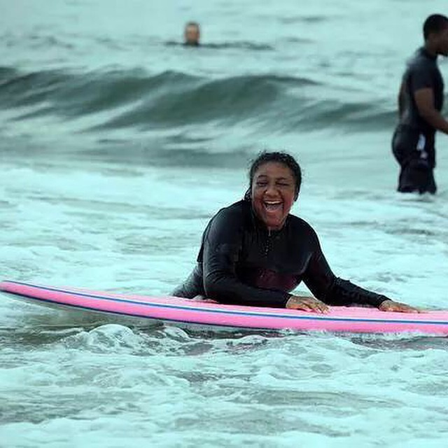 Imagine accomplishing something you thought was impossible and having a community of people supporting you through it. #stokedorg #stokedneverstops #blackgirlssurf
