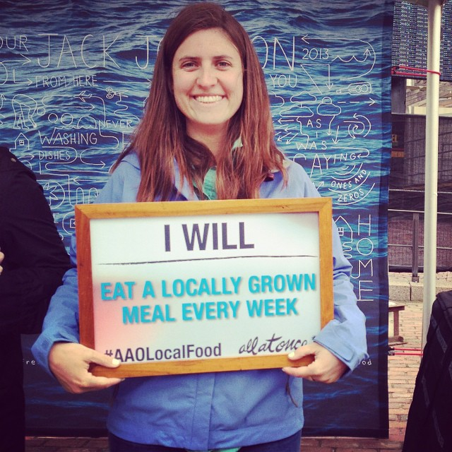 As the summer comes to a wrap, #1percentftp celebrates all the hard work from this summer's @jackjohnson tour with the @allatonce_org community! This fall, let's commit to being the #changemakers. 1%er Pauline pledges to eat #localfood. We encourage...