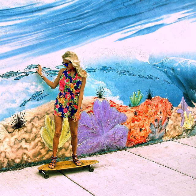 @whitneyraed surfs the streets in her Surf sunnies! #LifesABeach #Longboarding #Canon #Dolphin #Reef #Fish #Surf #Surfing #Kameleonz #GoPro #GoProOfTheDay #GoProHaven #WheresYourBeach