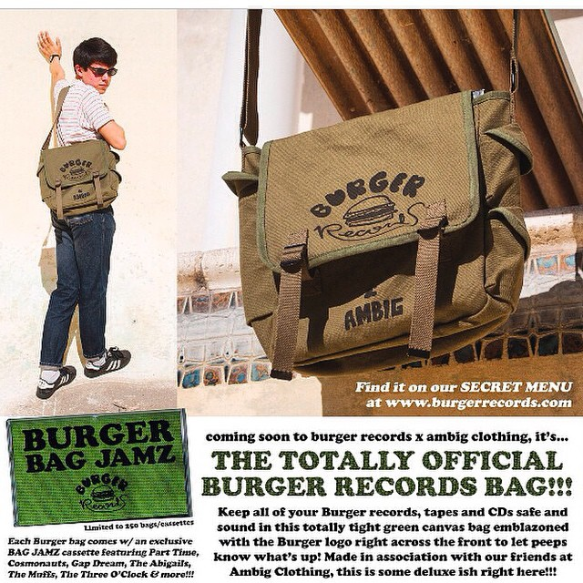 Head over to BURGERRECORDS.ORG to get in on the action!!! This bag is limited to 250 worldwide and they are going fast!! @burgerrecords4life #ambigclothing