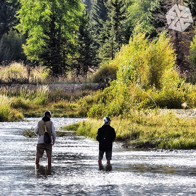 Friendships built in the outdoors will last a lifetime. AV7 crew @corey_jackson  and @camfitzpatrick chase fish and find the moment in Grand Teton National Park. #avalon7 #liveactivated #flyfishing www.avalon7.co