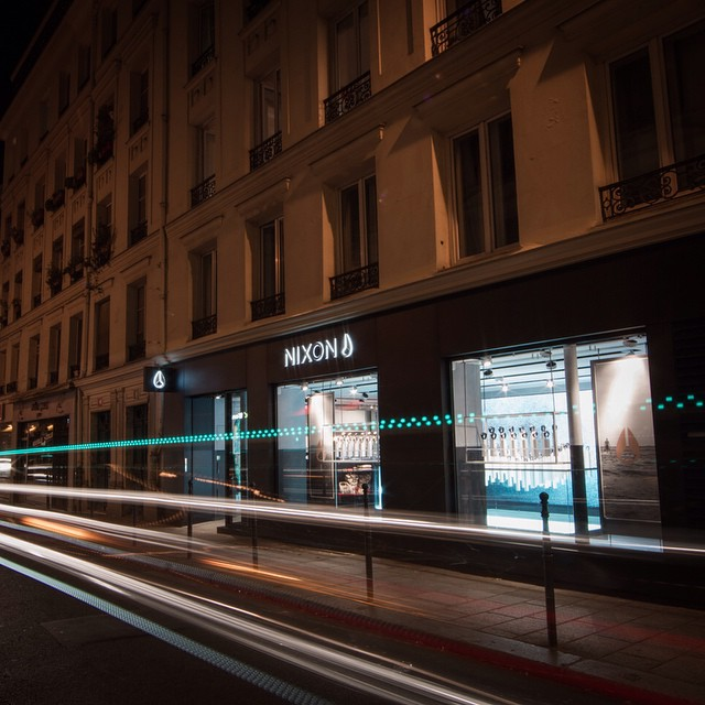 Now open.  Introducing Nixon's new brand store in Paris, France, and the launch of our first-ever watch customization bar.  Learn more on nixon.com/happenings. #nixonparis #nixon