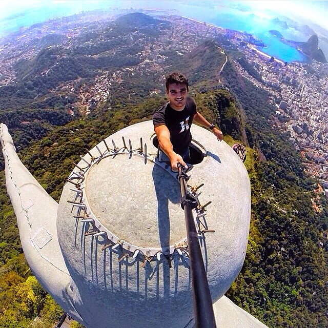 Putting things into perspective with @vinimcmc who's standing on top of the Christ the Redeemer statue in Rio de Janeiro, Brazil - Where's your beach? #WheresYourBeach #Kameleonz #GoPro #GoProBrasil #GoProHaven #GoProOfTheDay #LifesABeach #GoPole...