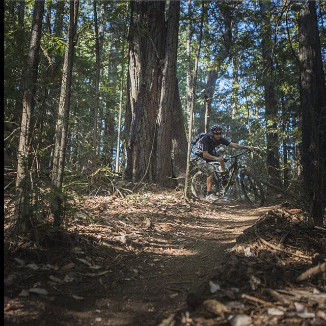 Great time out on the Santa Cruz trails with @cmjdavies yesterday! Thanks for the great shot! #regram #kalilids #goodtimes #mtb #santacruz