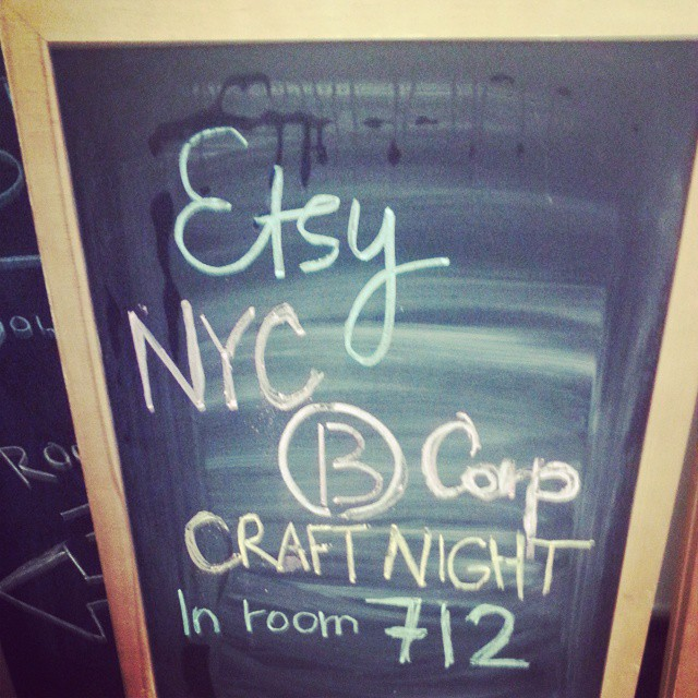 See you soon, NYC #BCorps! @etsy #BtheChange