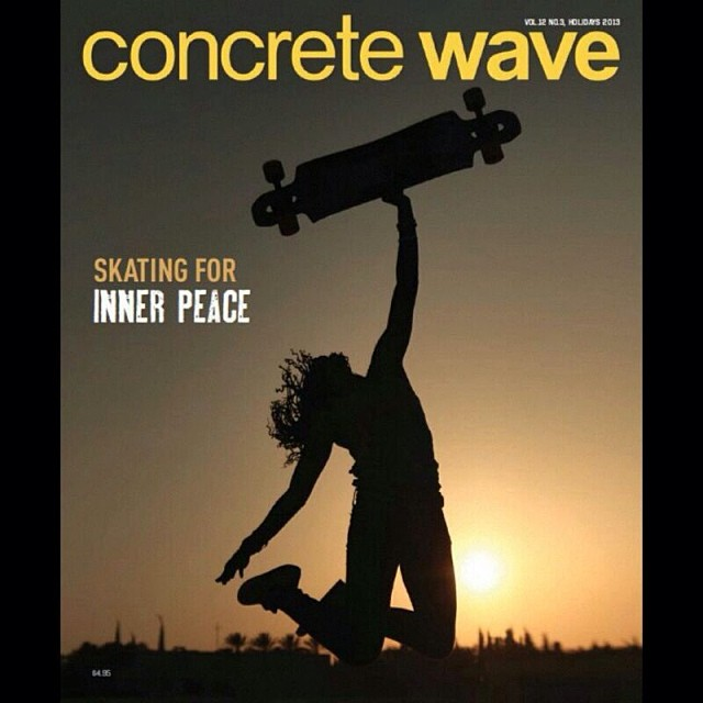 Our article about #LGCOpen written by @valeriakechichian made it to the cover of @concretewavemag. @camibeast showing some stoke during the last day of shooting in #Israel. Pic by @gadoreitor. Hell yeah ladies, we're killing it!