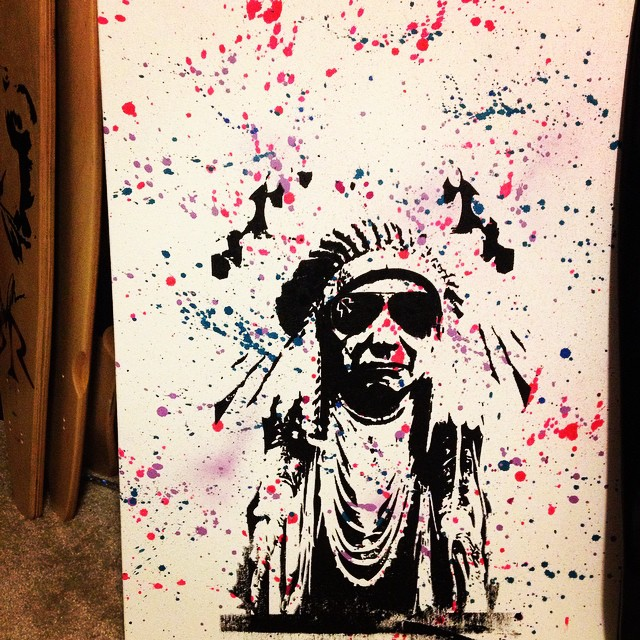 Little RoadRash canvas action #indian #canvas #artfordays #splaterpaint