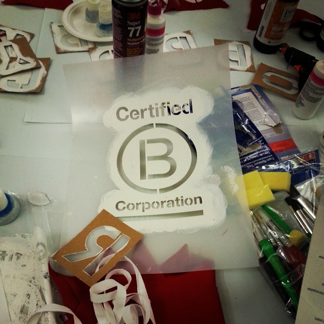 Thanks to everyone who got crafty with us last night at the NYC #BCorp  meetup @etsy! #BtheChange