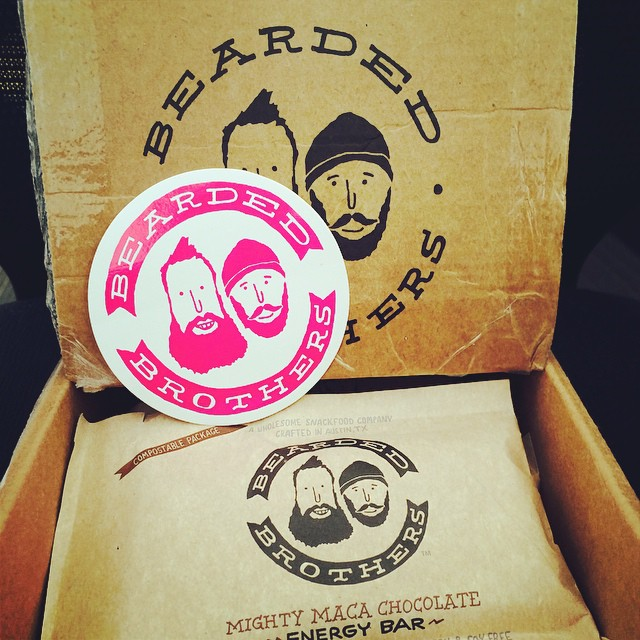 How do you survive #humpday? We're chowing on some raw, vegan, gluten & soyfree treats from our friends @beardedbros. Thanks for the #swagbag full of #organic energy bars and fun stickers! #humpdaymotivation