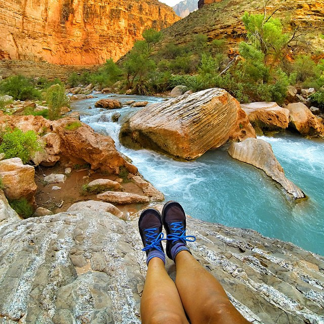 Chill time with a view. #grandcanyon @astralbuoyancy
