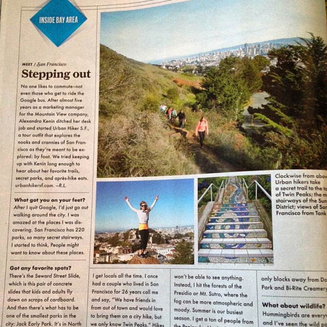 Made my @sunsetmag debut in their June 2014 issue! Thanks @urbanhikersf for an awesome #urbanhike - loved discovering #SanFrancisco's hidden gems with you! #hiking #city #wanderlust #explore #sunsetmag #exploremore #citybythebay #urbanhiking #travel...