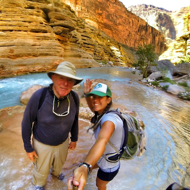 Gaining insight from this 70 year old whipper snapper. NEVER STOP EXPLORING! #grandcanyon