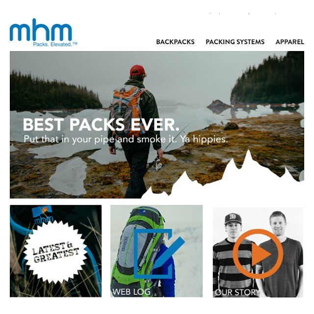 BREAKING NEWS: MHM packs launch completely new website! Teaming up with the veritable force that is @mioduski at Mioduski Design, they have created a new site to cater to all of your pack buying wants...nay, needs! See fo' yo'sef at mhmgear.com...