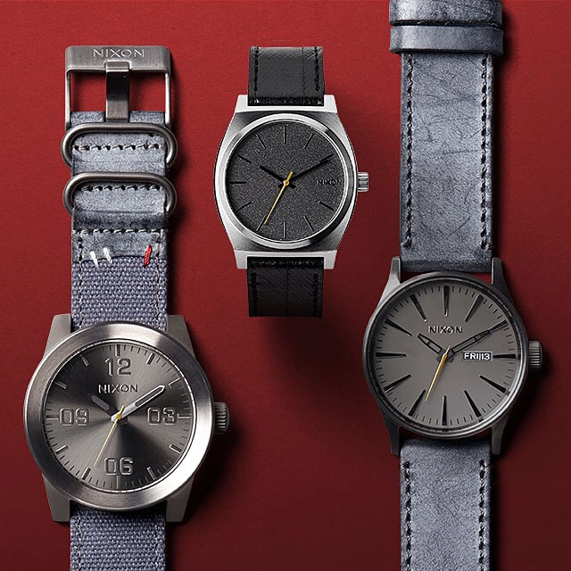 Fall arrivals now available.  Welcome the new: nixon.com (link in bio: @nixon_now) #TheCorporal #TheTimeTeller #TheSentryLeather #NixonFall2014 #Nixon
