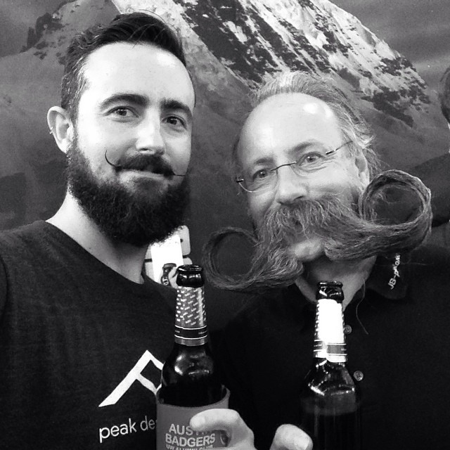 Sorry we've been #AWOL folks. The team has been at #photokina in Cologne, Germany. Yesterday we met Jurgen Burkhardt, 2007 World Beard and Mustache Champion. Adam, our marketing manager is his protege and #number1fan. Why was he at a photography...