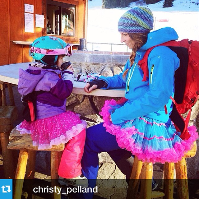 Like mother, like daughter. Tutu's and après, #IAmSJ #Repost from @christy_pelland with @repostapp --- après ski with tutus & cocoa