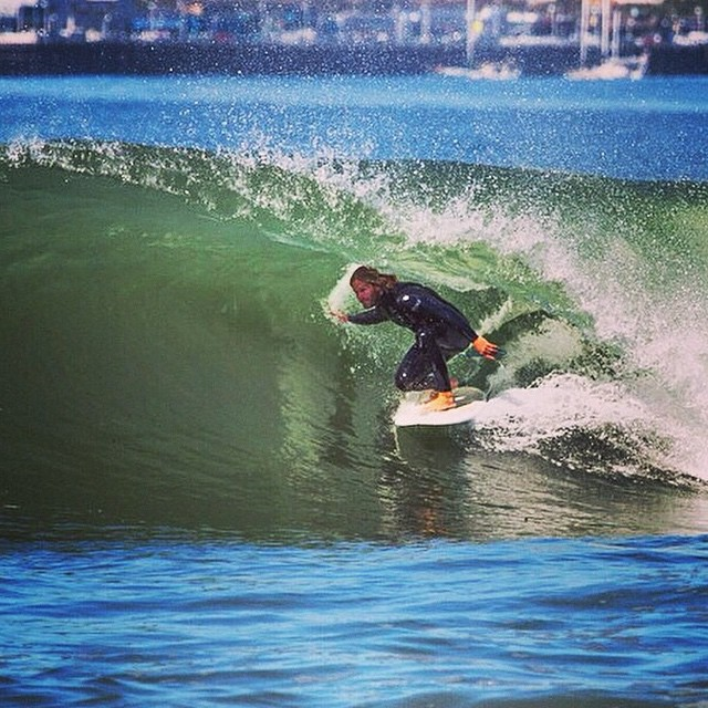 Chris O'Brien undercover in #santa cruz another great shot by  @saltybreezeart #awesome#awesomesurfboards#surfing#surf#covered