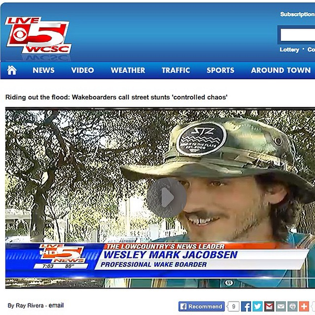 @wesleymarkjacobsen you're famous! // Team rider reppin the send it to the flats bucket hat on local news // go to our Facebook to watch the video and interview. #stzcrew #stzlife #viralvideo #hefamous #weknowhim #wakeboard #charleston