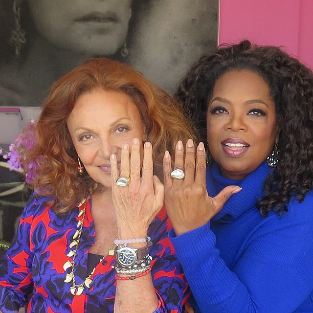 Honored and humbled to see #livelokai front and center with these two female power players @dvf @oprah
