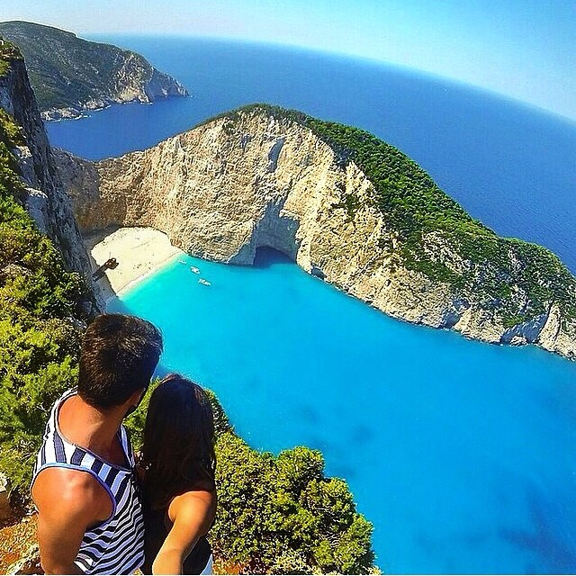 View from above Zakynthos is @kyra_ururahy's beach, where's yours? #WheresYourBeach #LifesABeach #GoPro #GoPole #GoProHaven #GoProOfTheDay #Zakynthos #Ocean #Sunglasses #Kameleonz #Travel pic by @kyra_ururahy
