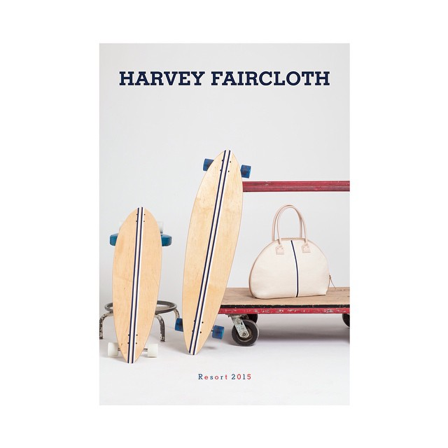 Pumped to see out boards in the @harveyfaircloth catalog! #handmade #skateboards #handmadeskateboards