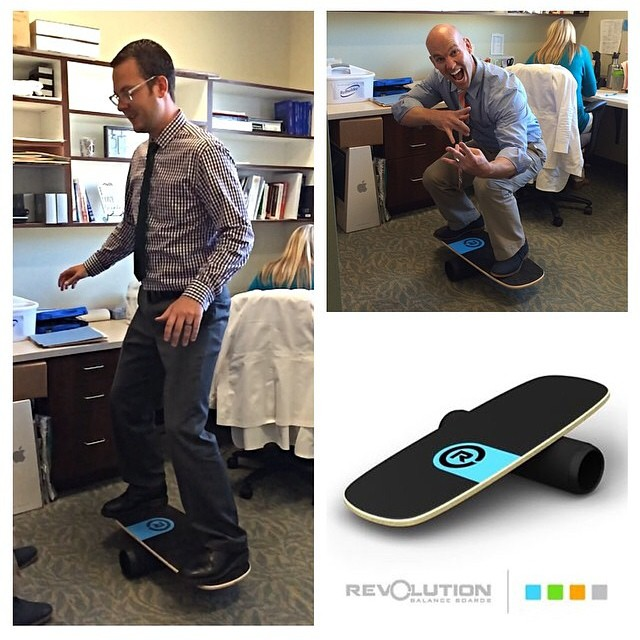 @theneuroclinic gettin it done in the office on the 101 #balanceboard