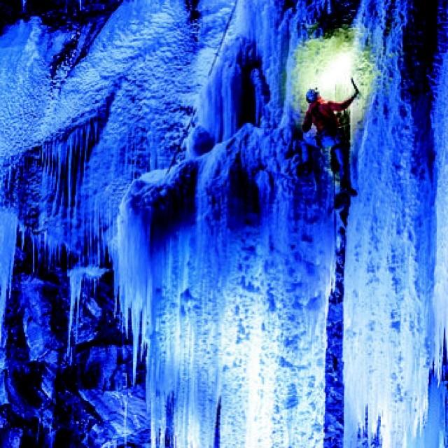 Ice, ice baby. #climbing #ice #blue