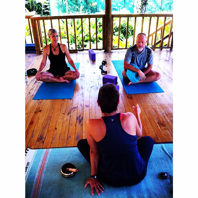 Deb and Steve are enjoying back-to-back yoga with Pilar and surfing with Gibran this morning!