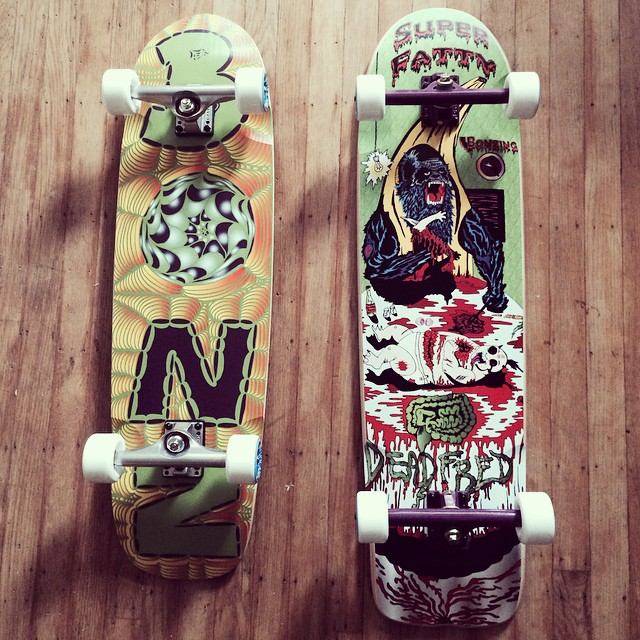 Happy Friday!  These beautiful baby's are headed to @NorCalsurfshop!  #bonzing #sanfrancisco #skateboard #shapers #artists