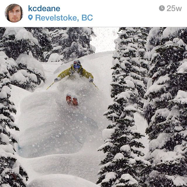 Regram from @kcdeane Swimming through powder! Congrats on being #highfivesathlete of the week!