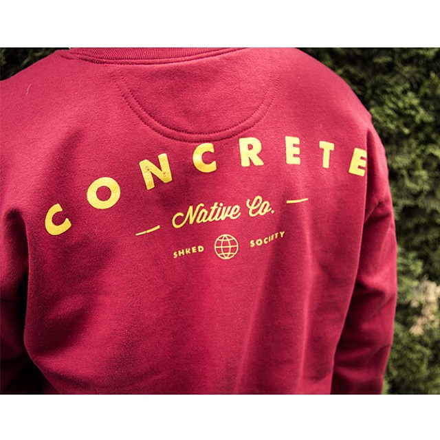 The Beautiful World Crewneck: Stay warm while you shred. Because its a beautiful world, and it's a beautiful day to ride. #crewneck #sweatshirt #staywarm #concretenative