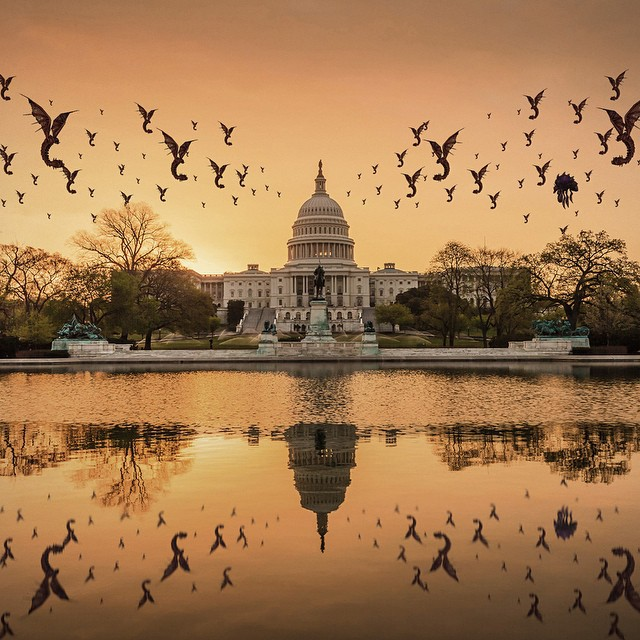 BREAKING: The Swarm has taken over the Capitol! Watch 8 of the World's best Starcraft II players battle it out in Washington D.C. this Saturday, 11AM ET by clicking the link in our profile. #BattleGrounds