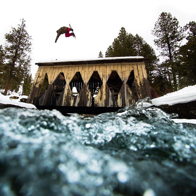 #regram from @tylerroemer: @winterislove flying high over a bridge up in the great North West.