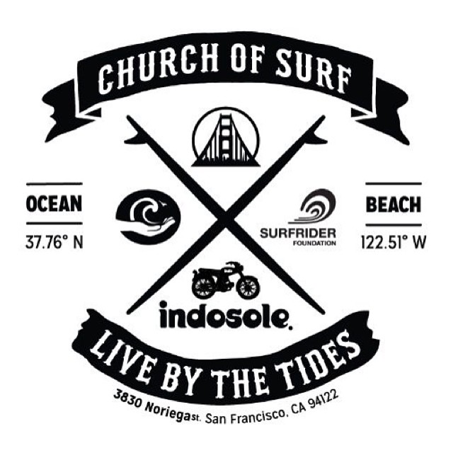 New Church of Surf tees launched today for #CoastalCleanUpDay. Proceeds go to @surfrider and @surfforlifeteam to support the conservation of beaches worldwide ✌available at 45th and Noriega, SF #churchofsurf