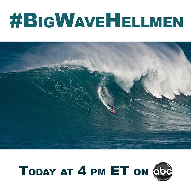 We're following five of the world's most daring big wave surfers on our #BigWaveHellmen series.  Coverage begins with our World of X Games preview show today at 4 pm ET/2 pm PT on ABC. (Photo via Epes/A Frame)