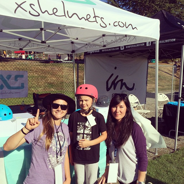 This lucky girl took the @skatelikeagirl clinic yesterday and won an @xshelmets! Thanks @andawhamybar @skatelikeagirl ! #cutie #prize #girlswhoskate #SkateForTheCure #xshelmets