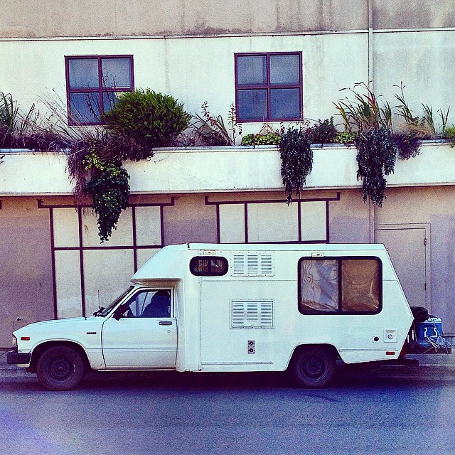 Nice camper. Arcata, CA - 9.20.14 - Always a fan of people's cool travel rigs. #vanlife #campervan #polervan