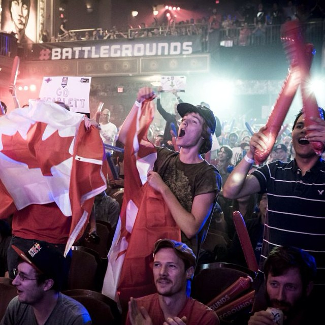 The crowd is going wild in Washington D.C. ! Watch Red Bull #BattleGrounds by clicking the link in our profile.