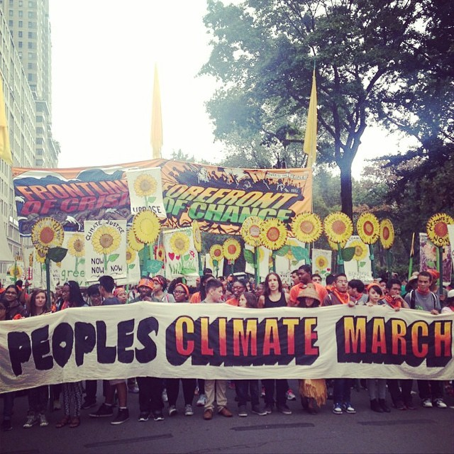 Sending Be Kind Vibes to all those making their voice heard at the Peoples Climate March in NYC and around the world today