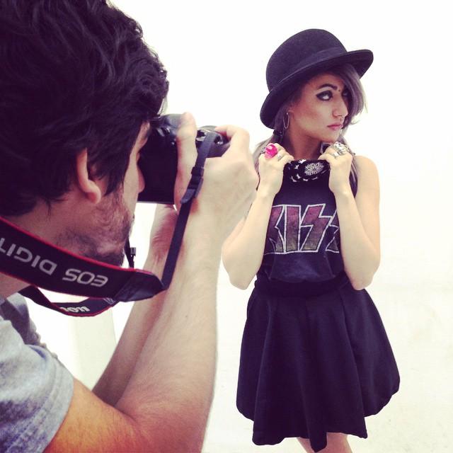 Shooting session #photography #photo #style #cool #canon #moda #urbanlife #backstage #bandana