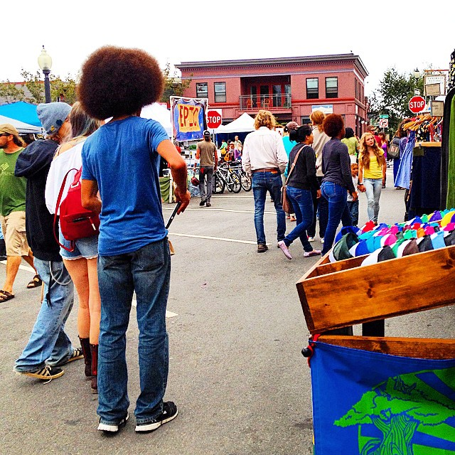 We'll that Rat Tail was great and all... But this #fro takes the cake. #afro #arcata #northcountryfair