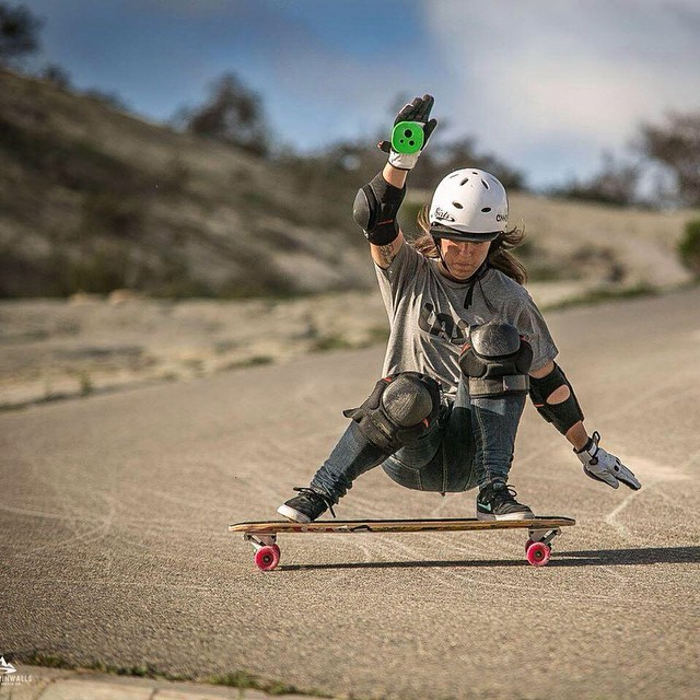 Happy bday to our #LGCOpen rider @eiderwalls! Make sure to check her out in the new trailer coming out this week! @mandarinwalls photo #longboardgirlscrew #girlswhoshred
