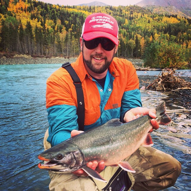 Our friend Matt hooked into some healthy looking fish up in AK! #snapjack #nofilter #technylish