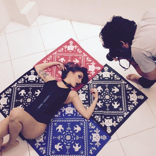 Bandana shooting session #bandana #photo #lookbook #urbanlife
