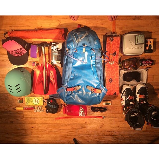 #Repost from @prettyfacesmovie: skier girl's version of a purse. Excited for the world premiere of Pretty Faces, film by @lynseydyer. #eddiebauer #rei #xshelmets #prettyfacesmovie