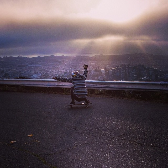 Team rider Chad Lybrand-- @ragnars_world sliding a San Francisco favorite. Photo 1 of 2.