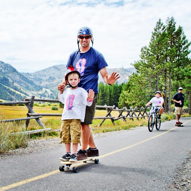 COMMUNITY SPOTLIGHT // Jason Knight Jason is a longtime supporter of B4BC's Skate the Lake and Skate the Coast series (coming up THIS weekend!), and has always managed to be one of our top fundraisers every year...with a kid on the nose of his board...